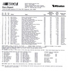 1992-NascarRaceReport