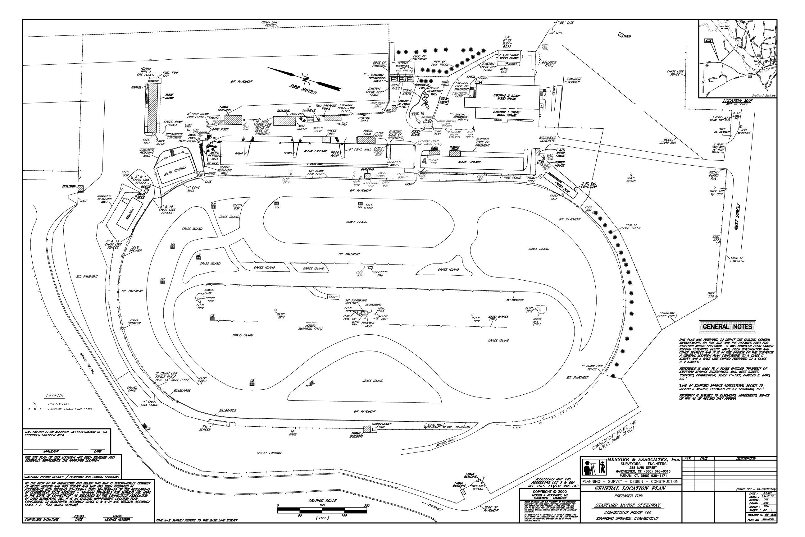 Stafford Speedway Ground Layout
