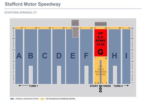 2014 monsterjam seating chart small stafford motor speedway for Stafford motor speedway schedule